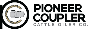 Pioneer Coupler Cattle Oiler Co. Logo